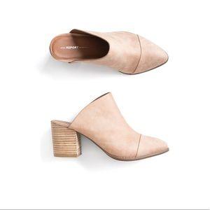Toni mule heeled booties